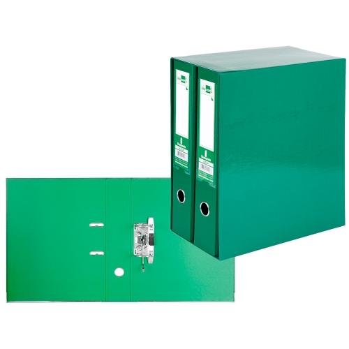 Liderpapel MD47. Módulo verde 2 archivadores folio 2 anillas 75 mm