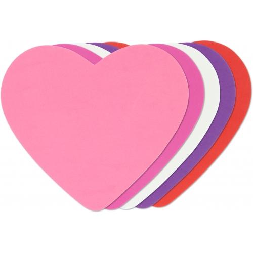 GRAFOPLAS 00030700. Pack 25 figuras de Goma Eva de colores. Forma corazón