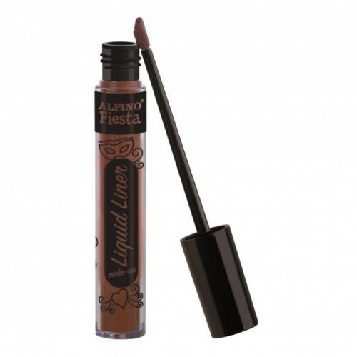 ALPINO DL000209. Caja 4 tubos de maquillaje Liquid Liner marrón
