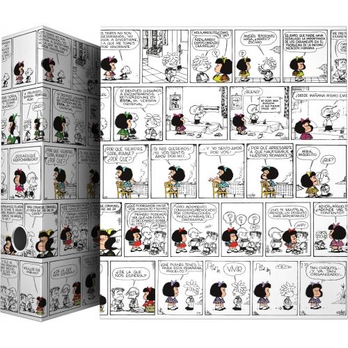 GRAFOPLAS 88171971. Pack 2 carpetas de anillas 40 mm. A4 Mafalda Comic