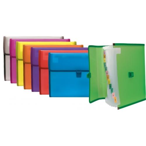 GRAFOPLÁS 02961235. Pack 2 carpetas fuelle de polipropileno con broche color violeta