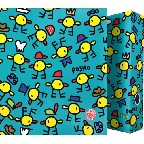 GRAFOPLAS 88171980. Pack 2 carpetas de anillas 40 mm. A4 Katuki Saguyaki Poshos