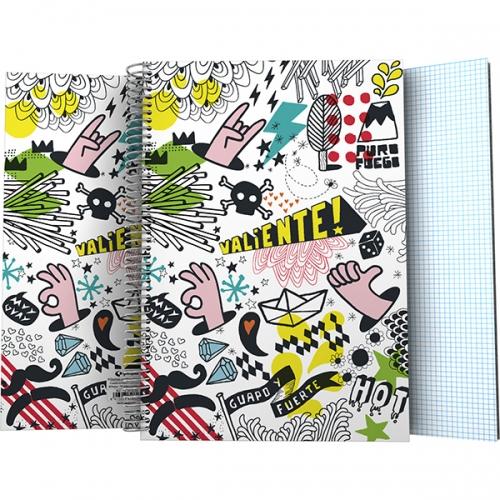 GRAFOPLAS 16580262. Cuaderno forrado tapa dura folio Free