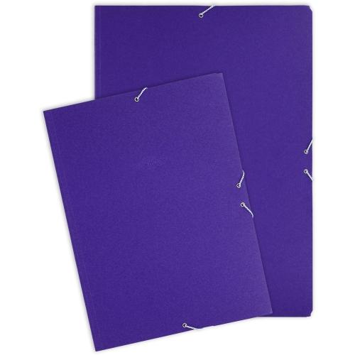 GRAFOPLÁS 04913130 Carpeta de cartón reciclado con 3 solapas y gomas formato cuarto.