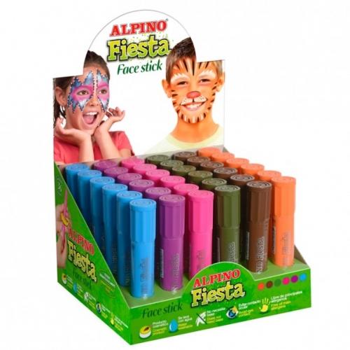 ALPINO DL000059. Expositor 36 barras de maquillaje colores fantansía