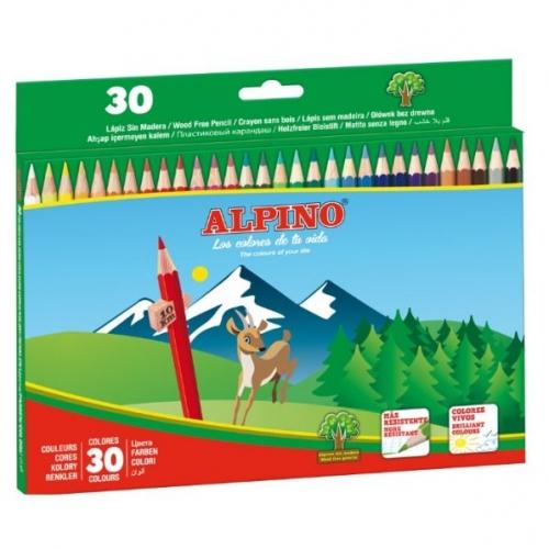ALPINO AL010659. Estuche de 30 lápices de colores surtidos
