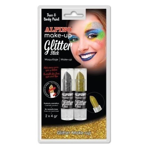 ALPINO DL000083. 2 barras de maquillaje oro-plata