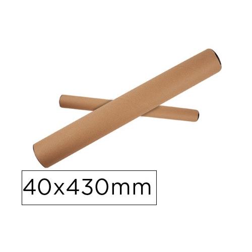 Q-Connect KF17771. Tubo portadocumentos cartón tapa plástico 40x430 mm.