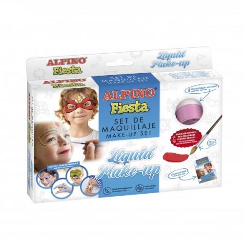 ALPINO DL000100. Estuche de maquillaje líquido, 8 colores x 10 gr