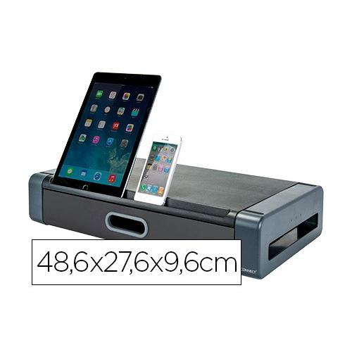 Q-Connect KF18641. Soporte para monitor con cajón 48,6 x 27,6 x 9,6 cm.