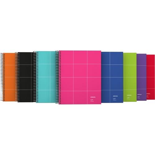 GRAFOPLAS 88532951. Cuaderno tapa dura A5 Unequal Grid rojo