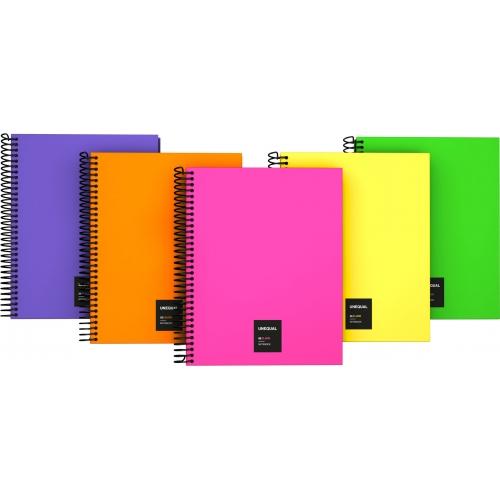 GRAFOPLAS 88536025. Cuaderno tapa dura A5 Unequal Flúor verde