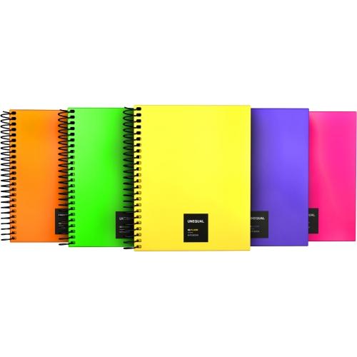 GRAFOPLAS 88546035. Cuaderno tapa dura A6 Unequal Flúor violeta