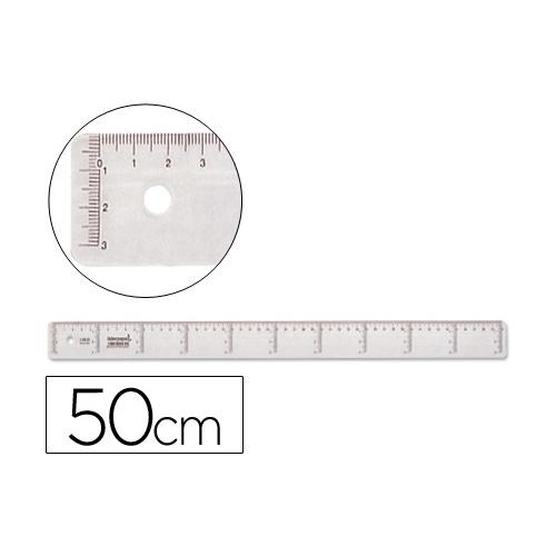 Liderpapel RG06. Regla 50 cm graduada plástico cristal