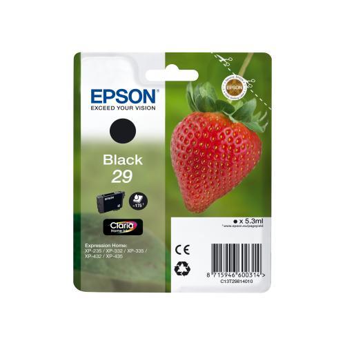 EPSON Cartuchos Inyeccion T2981 Negro Blister + Alarma C13T29814010