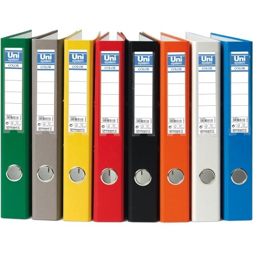 Unipapel 092378. Pack 6 archivadores de palanca Folio de 45 mm. Color naranja