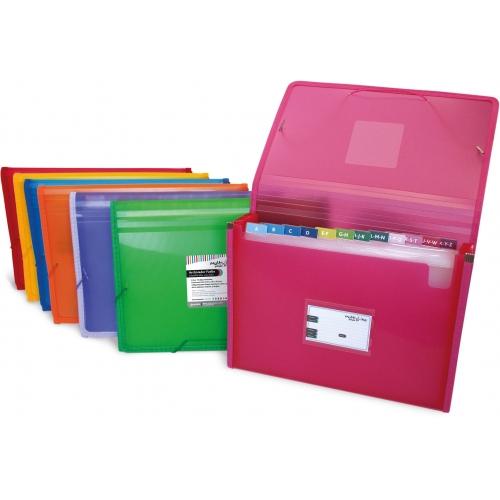 GRAFOPLÁS 02963054. Pack 2 carpetas fuelle Multiline A4 con gomas color rosa fucsia