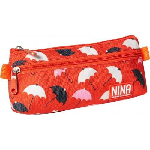 GRAFOPLAS 37540776. Estuche escolar portatodo plano Nina Umbrellas