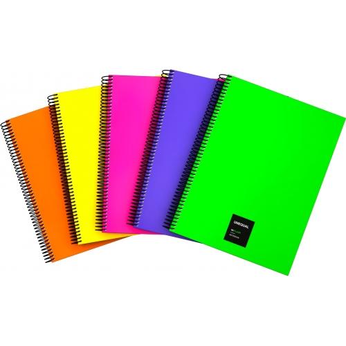 GRAFOPLAS 88526061. Cuaderno tapa dura A4 Unequal Flúor amarillo