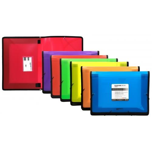 GRAFOPLÁS 04800551. Pack 2 carpetas Maxi con gomas y fuelle Blackline color rojo