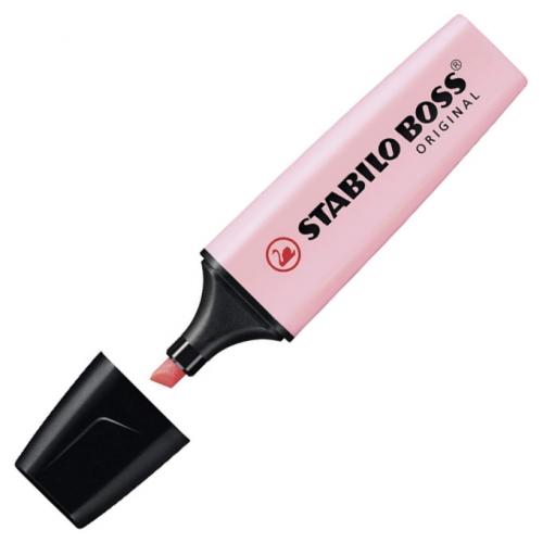 STABILO 70-129. Marcador fluorescente Boss Original Pastel con punta biselada. Rosa