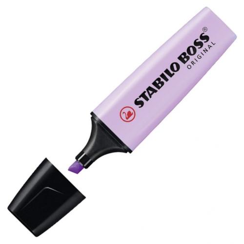 STABILO 70-155. Marcador fluorescente Boss Original Pastel con punta biselada. Violeta