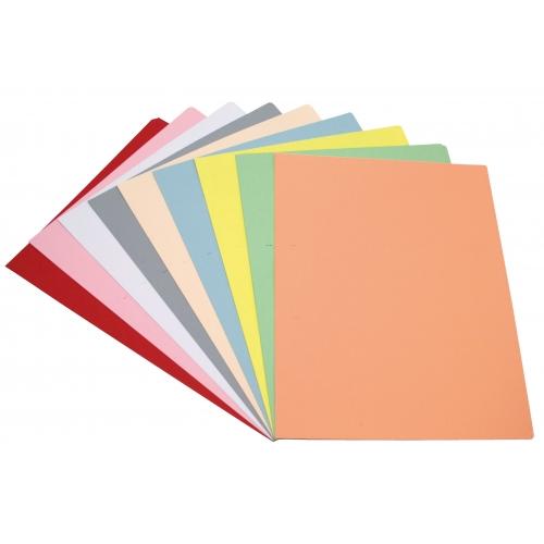 GRAFOPLAS 00077343. Pack 100 subcarpetas Folio de 180 gr. Color beige pastel