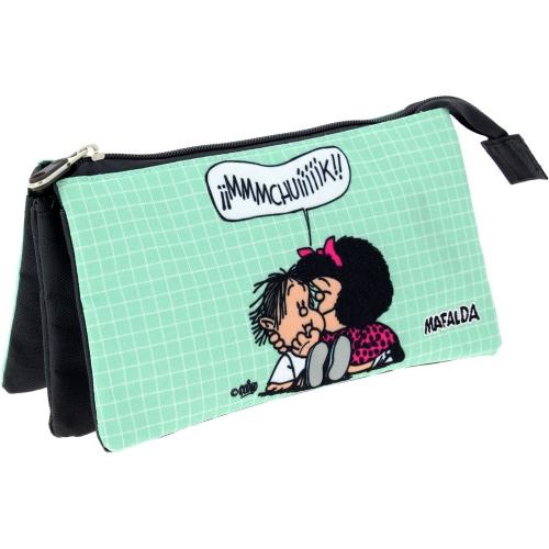 GRAFOPLAS 37540673. Estuche escolar portatodo triple Mafalda Muak
