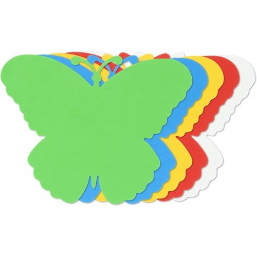 GRAFOPLAS 00030703. Pack 25 figuras de Goma Eva de colores. Forma mariposa
