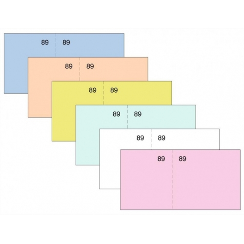 LOAN T-29 Amarillo. Talonario caja numerado seis del cuarto (11 x 5 cm.)
