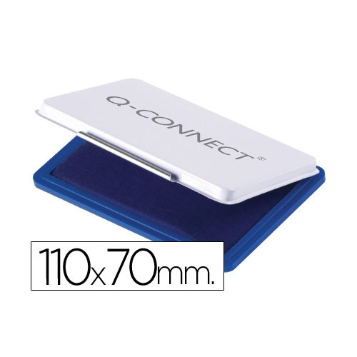 Q-Connect KF25209. Tampón para sellos azul. 110 x 70 mm.