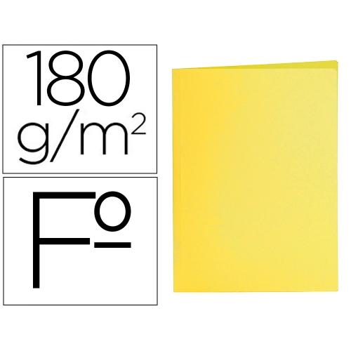 Liderpapel SC02. 50 subcarpetas folio 180 g/m2 amarillas