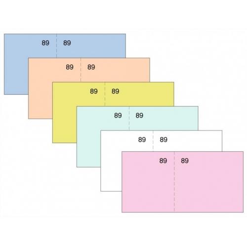 LOAN T-29 Naranja. Talonario caja numerado seis del cuarto (11 x 5 cm.)