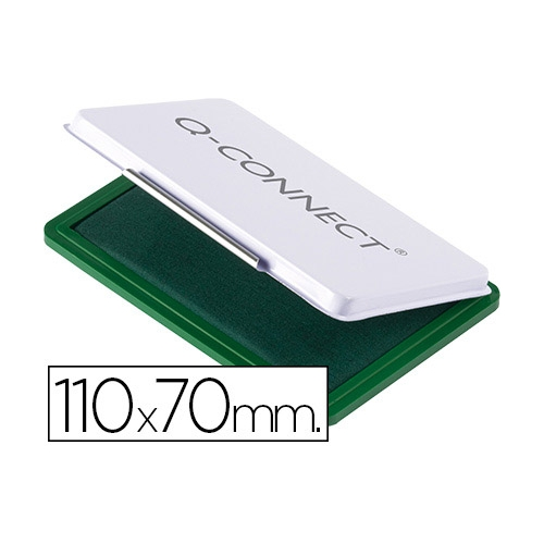 Q-Connect KF25210. Tampón para sellos verde. 110 x 70 mm.
