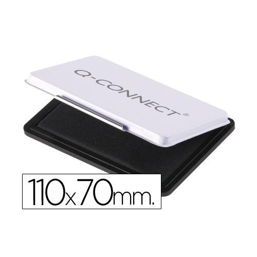 Q-Connect KF25211. Tampón para sellos negro. 110 x 70 mm.