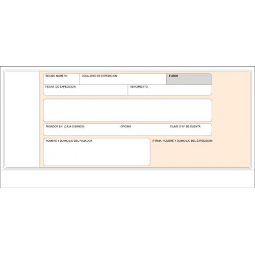 LOAN T-19. Talonario recibos normalizados bancos papel litos