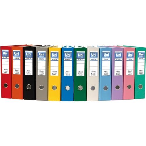 Unipapel 092475. Archivador de palanca amarillo de 75 mm. Formato folio