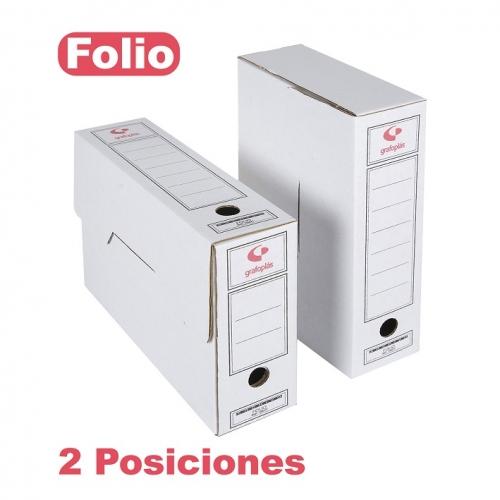 GRAFOPLÁS 70907700 Caja de archivo definitivo cartón FSC formato folio