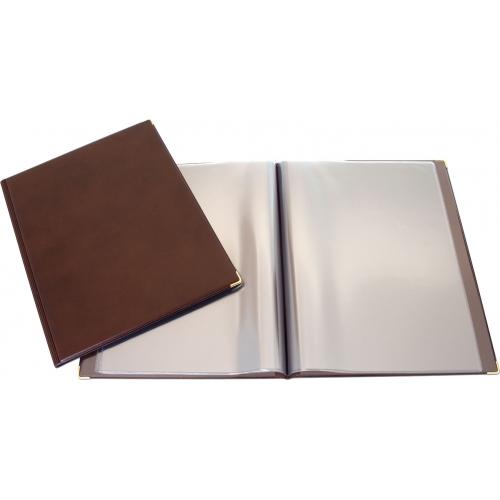 GRAFOPLÁS 06114840. Portamenús de PVC formato folio marrón
