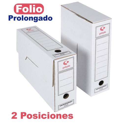GRAFOPLÁS 70907900 Caja de archivo definitivo cartón FSC formato folio prolongado