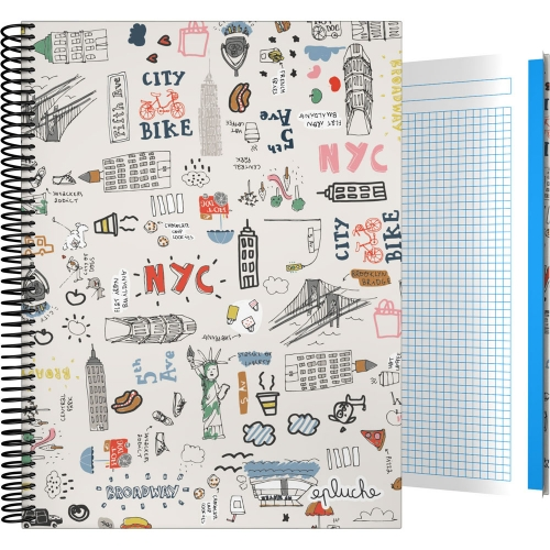 GRAFOPLÁS 16502601. Cuaderno tapa dura A4, 100 hojas, Laurie Brochard NYC