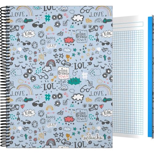 GRAFOPLÁS 16502602. Cuaderno tapa dura A4, 100 hojas, Laurie Brochard Girl Power