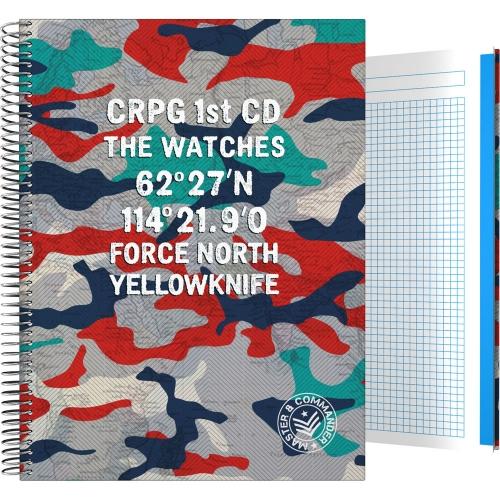GRAFOPLÁS 16502609. Cuaderno tapa dura A4, 100 hojas, Master & Commander Rojo