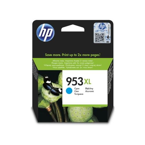 HP 953XL Cartucho de tinta original cian - F6U16AE