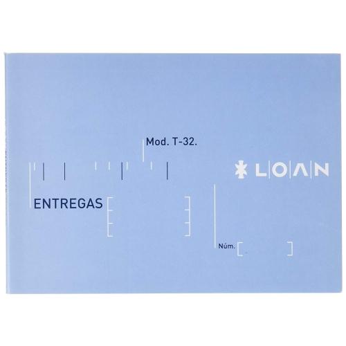 LOAN T-32. Talonario notas de entrega 8º apaisado papel litos (15 x 10,5 cm.)