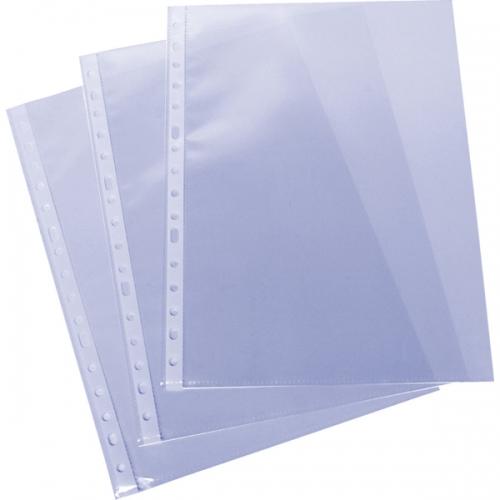 GRAFOPLÁS 05570200 Pack 100 fundas multitaladro folio de polipropileno liso extra 16 taladros