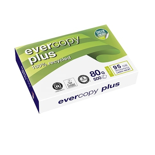 Clairefontaine 50038SC. Papel reciclado Evercopy Plus 80 g. A3, 500 hojas