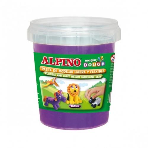 ALPINO DP000177. Bote de pasta modelar Magic Dough 160 gr violeta
