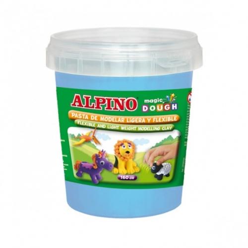 ALPINO DP000176. Bote de pasta modelar Magic Dough 160 gr cian