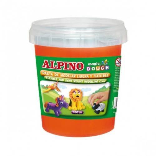 ALPINO DP000173. Bote de pasta modelar Magic Dough 160 gr naranja
